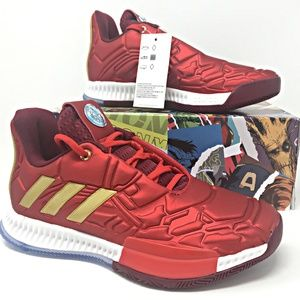 Adidas Harden Vol. 3 Iron Man Kids Basketball Shoe NWT